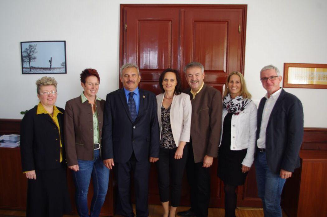Die Schneebergland Delegation beim Besuch in Keszthely